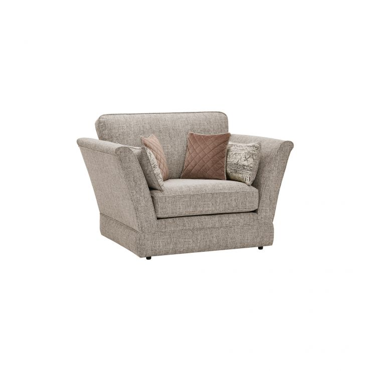 Carrington Loveseat in Breathless Fabric - Biscuit