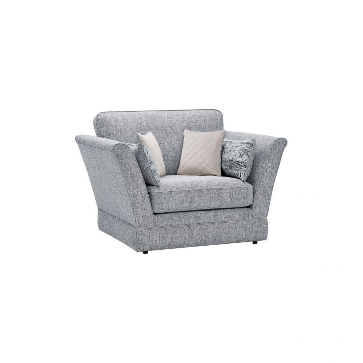 Carrington Loveseat in Breathless Fabric - Navy - Image 1