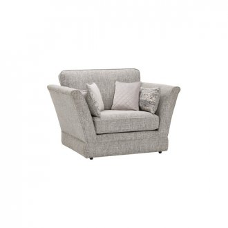 Carrington Loveseat in Breathless Fabric - Silver