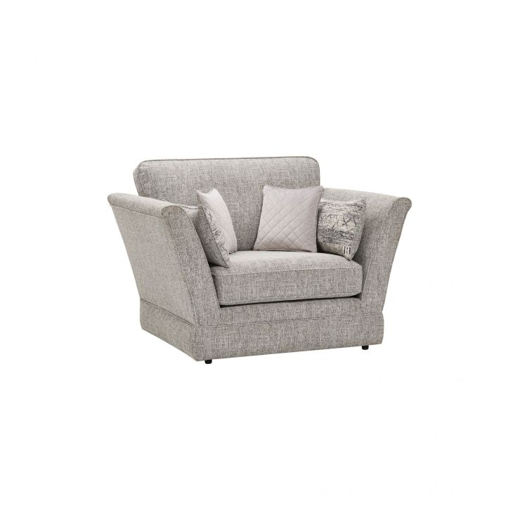 Carrington Loveseat in Breathless Fabric - Silver - Image 9