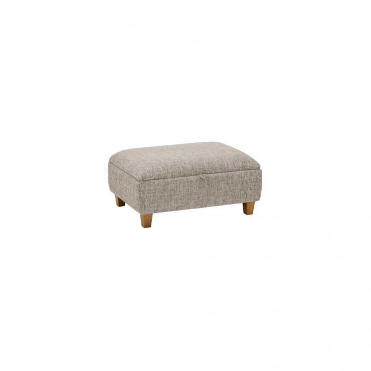 Carrington Storage Footstool in Breathless Fabric - Biscuit - Image 2