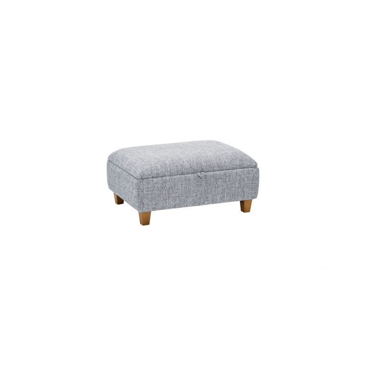 Carrington Storage Footstool in Breathless Fabric - Navy