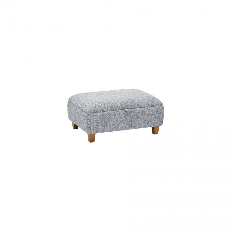 Carrington Storage Footstool in Breathless Fabric - Navy - Image 2