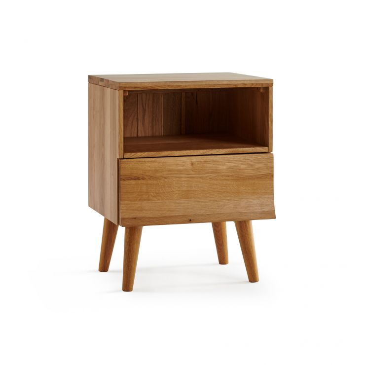 Cascade Natural Solid Oak 1 Drawer Bedside Table