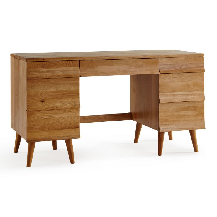 Cascade Natural Solid Oak Computer Desk