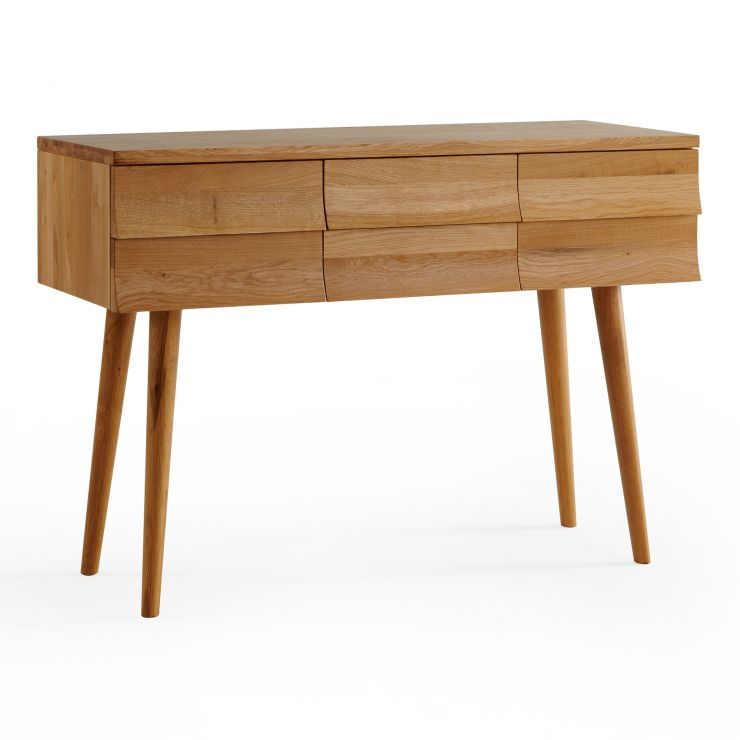 Cascade Natural Solid Oak Console Table