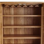 Cascade Natural Solid Oak Drinks Cabinet - Thumbnail 4