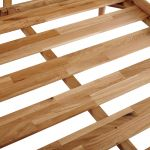 Cascade Natural Solid Oak King-Size Bed - Thumbnail 3