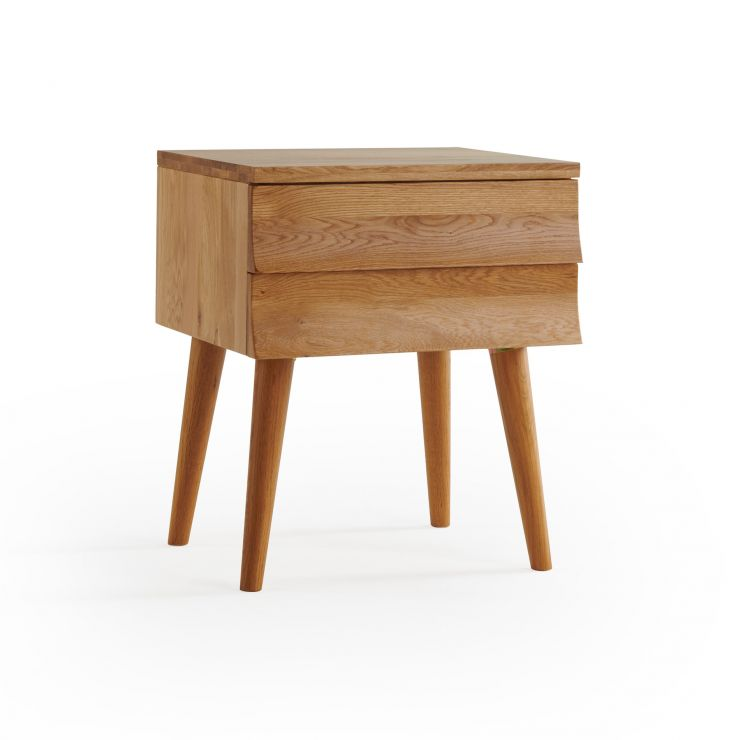 Cascade Natural Solid Oak Side Table
