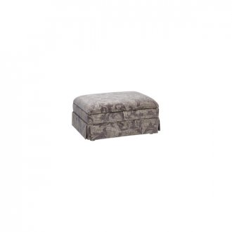 Chartwell Storage Footstool in Grey Fabric