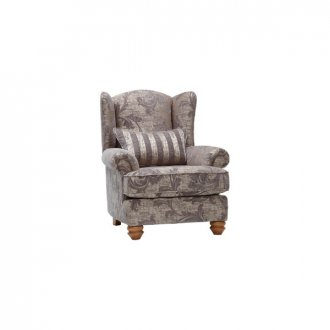 Chartwell Wing Chair in Grey