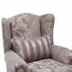 Chartwell Wing Chair in Grey - Thumbnail 6