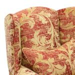 Chartwell Wing Chair in Rust - Thumbnail 6
