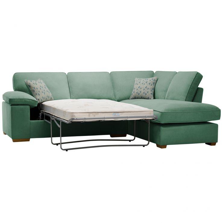 Chelsea Left Hand Corner Sofa Bed in Cosmo Jade