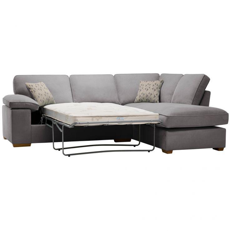 Chelsea Left Hand Corner Sofa Bed in Cosmo Pewter