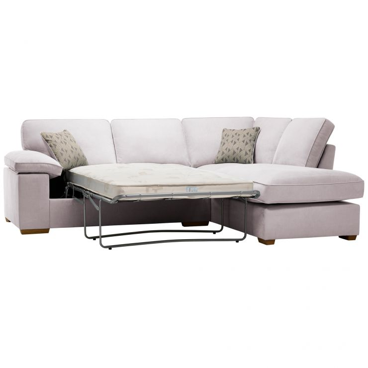 Chelsea Left Hand Corner Sofa Bed in Cosmo Silver