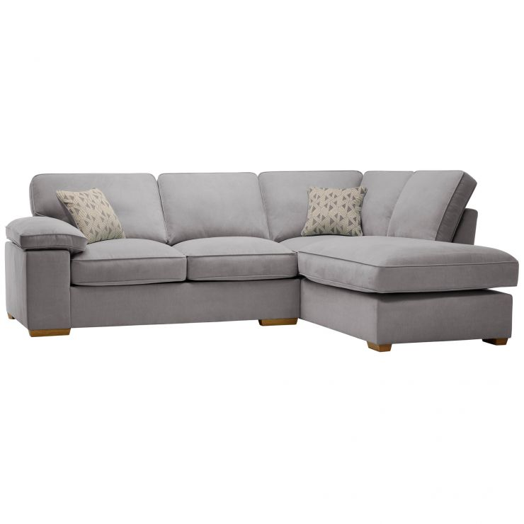 Chelsea Left Hand Corner Sofa in Cosmo Pewter - Image 1