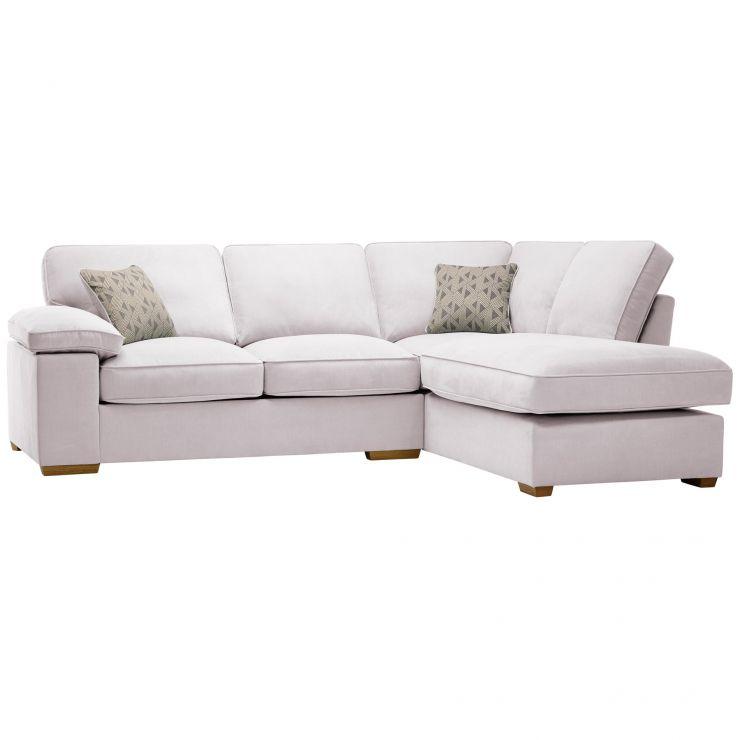 Chelsea Left Hand Corner Sofa in Cosmo Silver