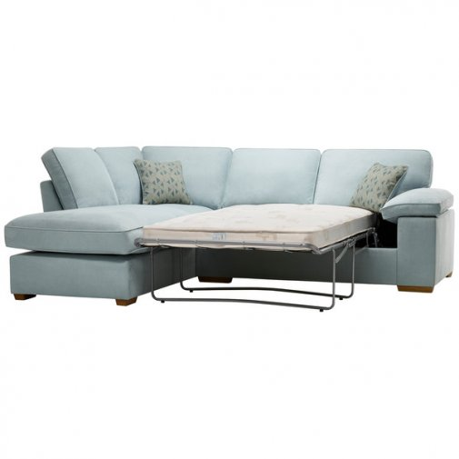 Chelsea Right Hand Corner Sofa Bed in Cosmo Duck Egg