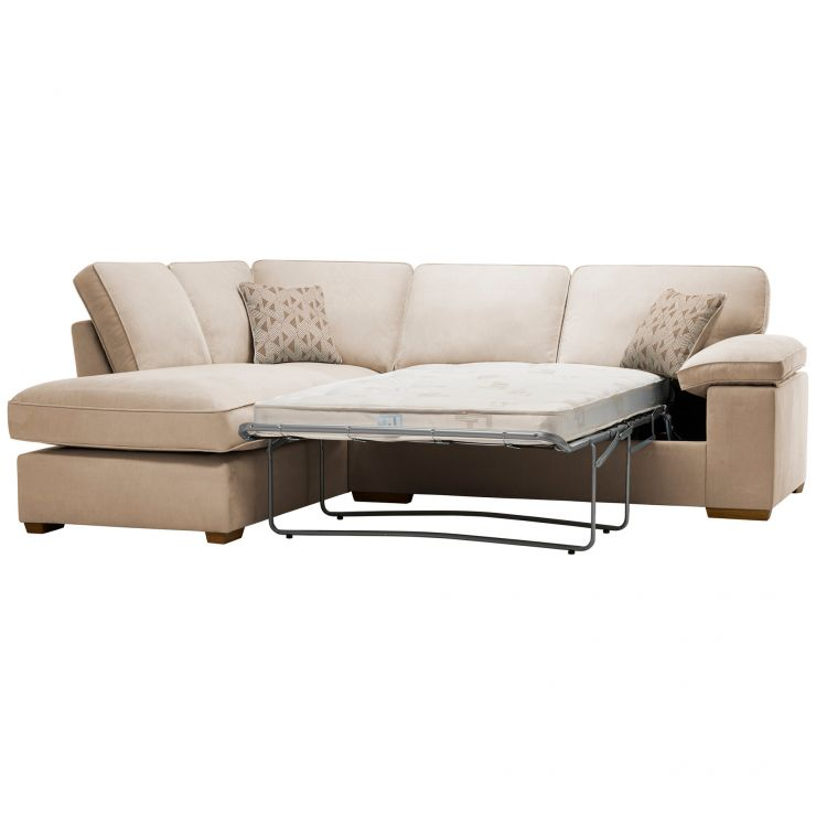 Chelsea Right Hand Corner Sofa Bed in Cosmo Linen