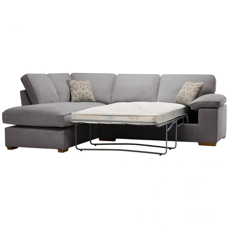 Chelsea Right Hand Corner Sofa Bed in Cosmo Pewter