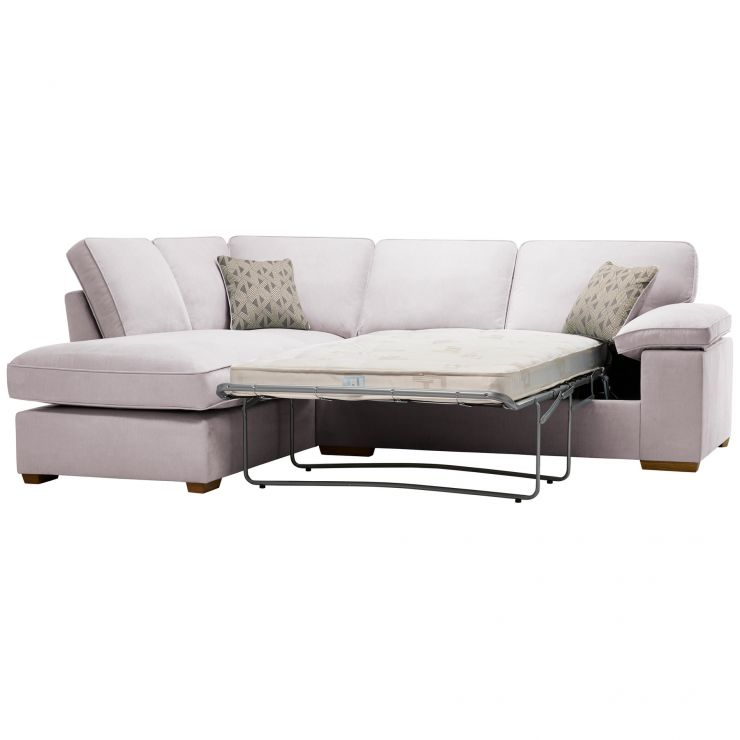 Chelsea Right Hand Corner Sofa Bed in Cosmo Silver