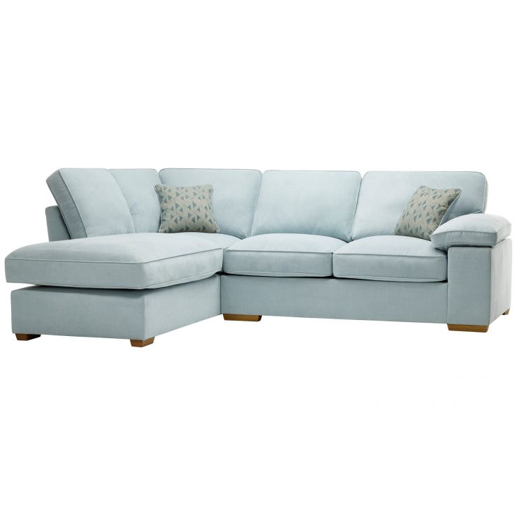 Chelsea Right Hand Corner Sofa in Cosmo Duck Egg - Image 1