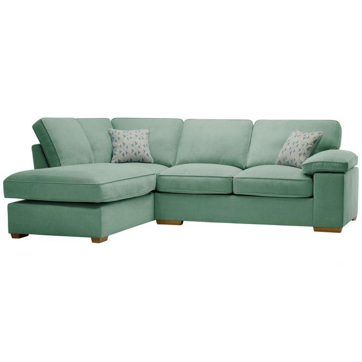 Chelsea Right Hand Corner Sofa in Cosmo Jade