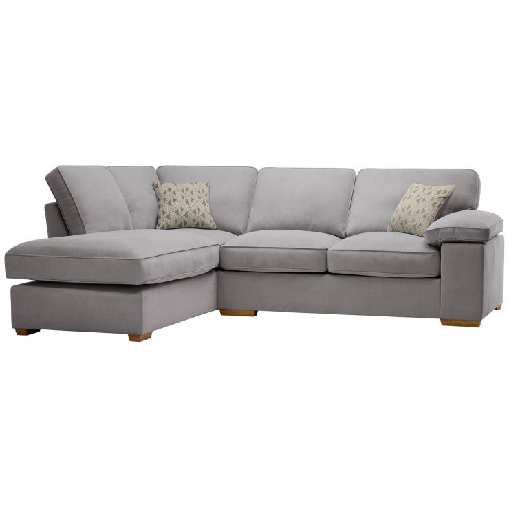 Chelsea Right Hand Corner Sofa in Cosmo Pewter