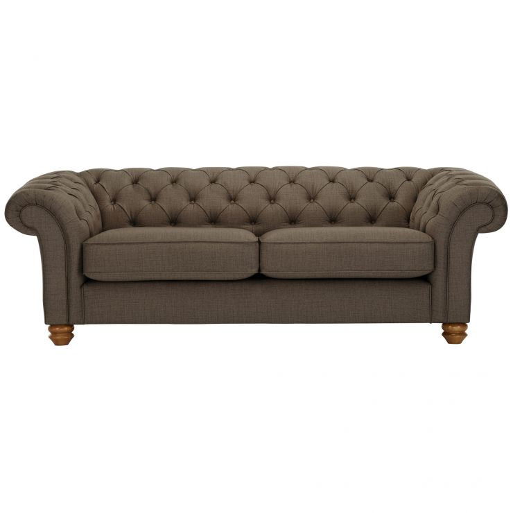 Chesterfield 3 Seater Sofa in Orchid Coffee - Image 1