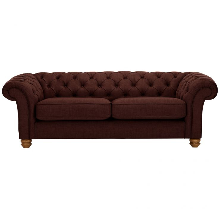 Chesterfield 3 Seater Sofa in Orchid Red