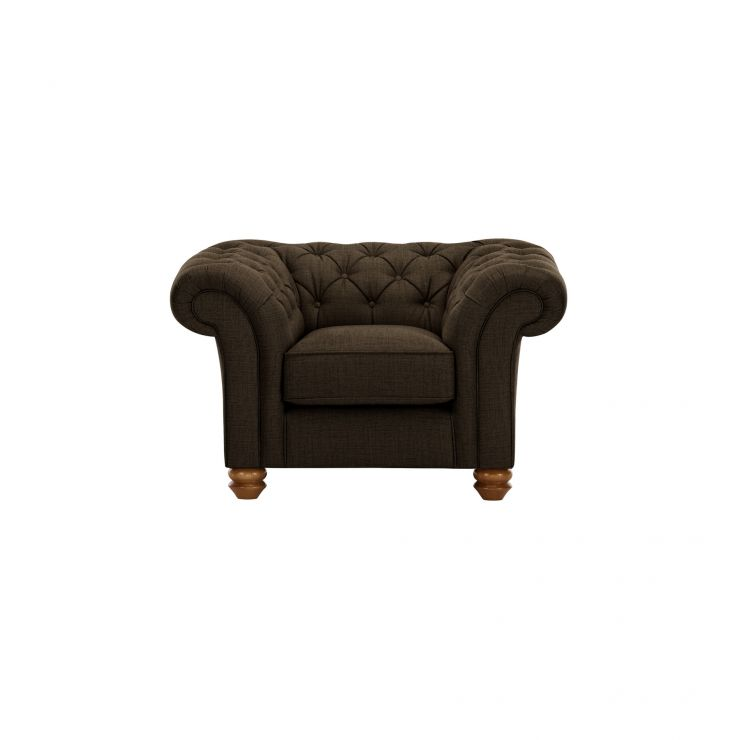 Chesterfield Armchair in Orchid Brown - Image 1