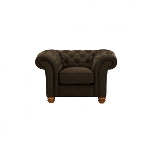 Chesterfield Armchair in Orchid Brown