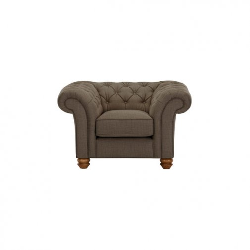 Chesterfield Armchair in Orchid Coffee