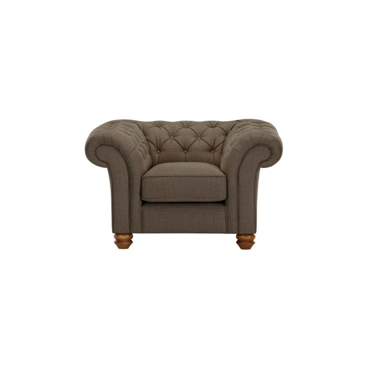 Chesterfield Armchair in Orchid Coffee - Image 1