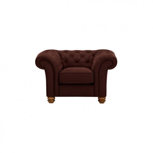 Chesterfield Armchair in Orchid Red