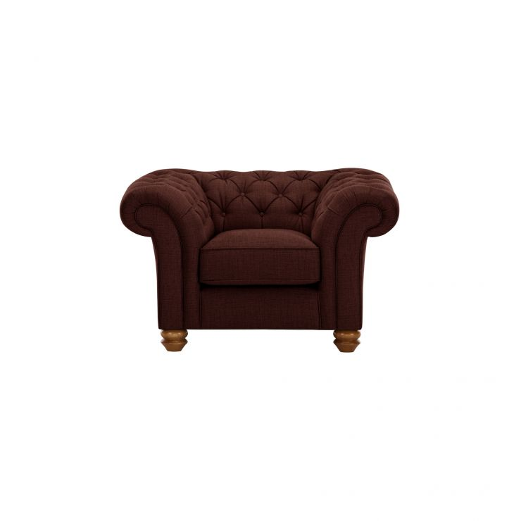 Chesterfield Armchair in Orchid Red - Image 1