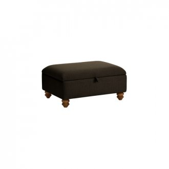 Chesterfield Storage Footstool in Orchid Brown