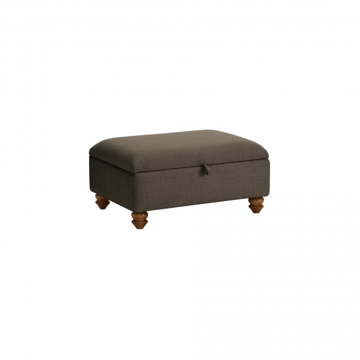 Chesterfield Storage Footstool in Orchid Coffee - Image 2
