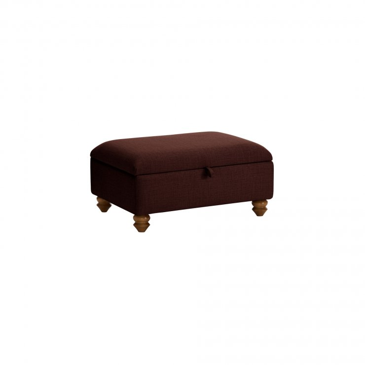 Chesterfield Storage Footstool in Orchid Red