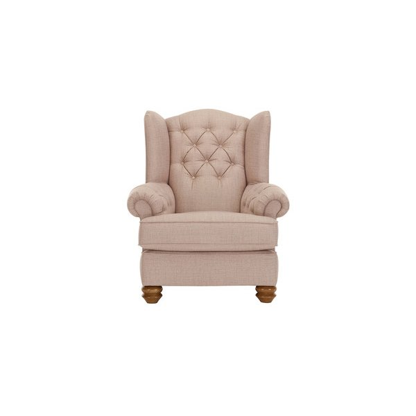 Chesterfield Wing Chair in Orchid Beige