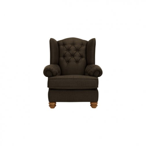 Chesterfield Wing Chair in Orchid Brown
