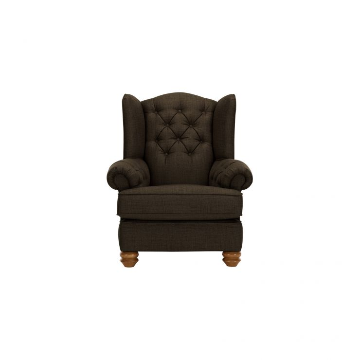 Chesterfield Wing Chair in Orchid Brown - Image 1