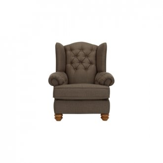 Chesterfield Wing Chair in Orchid Coffee