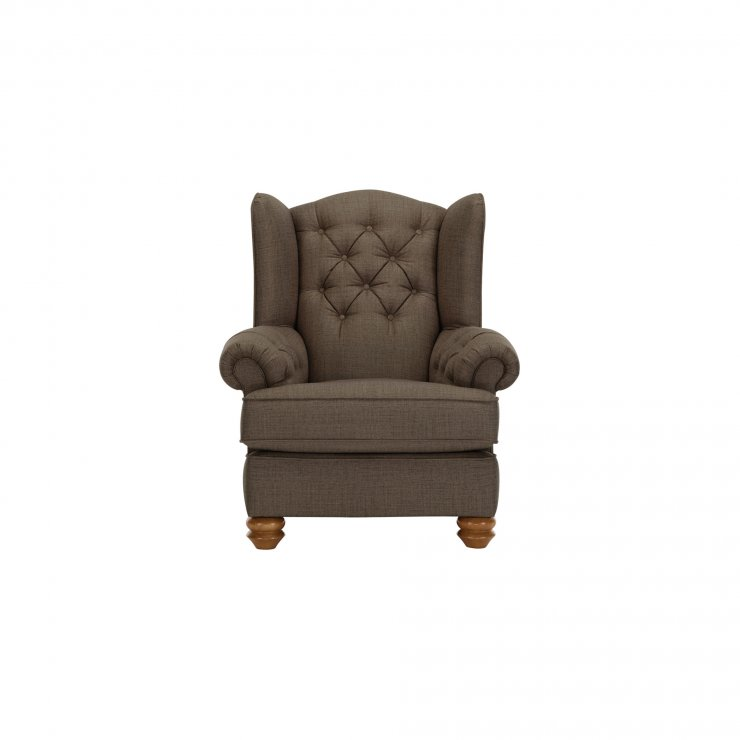 Chesterfield Wing Chair in Orchid Coffee - Image 1