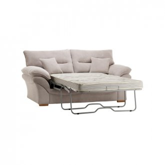Chloe 2 Seater Deluxe Sofa Bed in Breeze Fabric - Silver