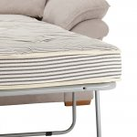Chloe 2 Seater Deluxe Sofa Bed in Breeze Fabric - Silver - Thumbnail 7