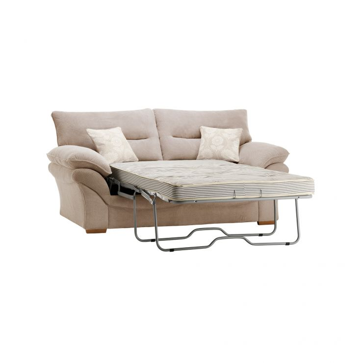 Chloe 2 Seater Deluxe Sofa Bed in Dynasty Fabric - Natural - Image 7