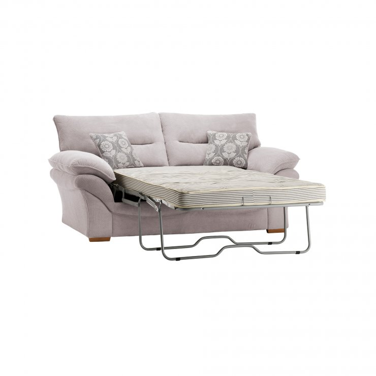 Chloe 2 Seater Deluxe Sofa Bed in Dynasty Fabric - Silver - Image 7