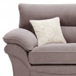 Chloe 2 Seater Deluxe Sofa Bed in Dynasty Fabric - Taupe - Thumbnail 6